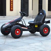 创意新款可坐人儿童电动车防滑防震充气轮沙滩车四轮双驱动卡丁车炫酷车灯音乐玩具汽车可遥控童车