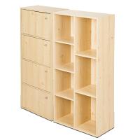 [当当自营]慧乐家 鲁比克七格柜书柜组合套装 书柜 储物柜 置物架 白枫木色 FNAL-11195-1