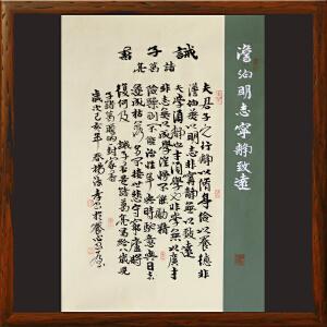 诸葛亮诫子书《澹泊明志 宁静致远》杨法孝山东书协理事,中国书协会员R2710