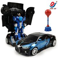 对战变形搏击遥控汽车金刚格斗机器人电动儿童玩具车