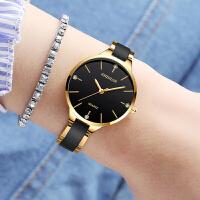 陶瓷手表女表石英表防水简约手表薄款休闲表