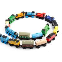 套装宝宝玩具车儿童木制早教木质磁性滑行轨道车 托马斯