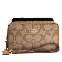 【当当自营】蔻驰(COACH)新款经典C纹女士手腕带钱包卡包零钱包 F53937