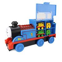20180527090647879大号托马斯小火车头宝宝汽车音乐惯性儿童玩具车列车模型男孩 滑梯-磁性收纳托马斯 带4