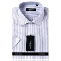 雅戈尔YOUNGOY全棉紫色条纹免烫短袖衬衫SDP14682-33
