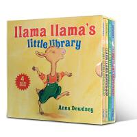 英文原版进口正版 儿童英语绘本 Llama Llama Red Pajama Little Library 羊驼玛拉趣