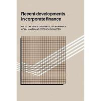 【预订】Recent Developments in Corporate Finance