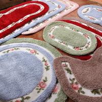 田园玫瑰地毯地垫门垫吸水防滑浴室垫厨房垫脚垫 可机洗手洗