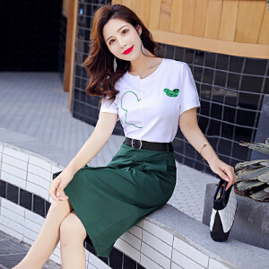 安妮纯流行显瘦套装裙女装裙子矮个子搭配娇小连衣裙2020夏季新款两件套