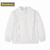 【2件5折】巴拉巴拉童装女童衬衫儿童春秋2018新款小童宝宝纯棉上衣韩版衬衣