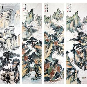 杨耀辉《青山叠翠》著名画家 有作者本人授权