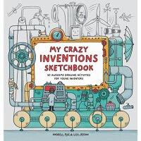 【现货】我的疯狂创作素描本 英语原版 My Crazy Inventions Sketchbook 设计 科普 创意