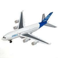 彩珀合金民航空军一号儿童飞机玩具车飞机模型声光版客机波音777