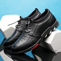 承发 休闲男士头层牛皮软底系带商务休闲皮鞋子男 20665