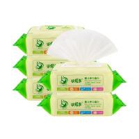 [当当自营]可爱多婴儿口手湿巾80片*5包