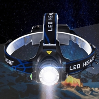 户外头灯 强光 充电 10W LED钓鱼灯 矿灯 远射T6头灯