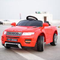 儿童电动车四轮汽车宝宝玩具车1-3岁童车3-5岁小孩遥控汽车可坐人 红色 双驱+自驾+遥控