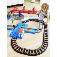 小火车套装轨道 仿真电动和谐号高铁儿童玩具车礼物