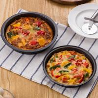 欧润哲 长方形吐司烤盘 蛋糕烤盘碳钢制烤漆面包盘烘焙工具