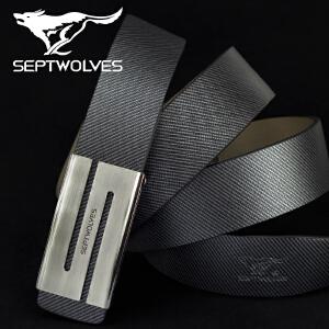 支持礼品卡!七匹狼 男式平滑扣皮带 时尚潮流 韩版腰带裤带