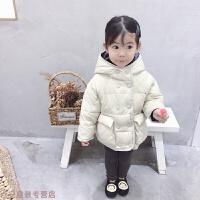 冬季女童羽绒服中长款2018新款宝宝冬装儿童加厚连帽外套潮秋冬新款
