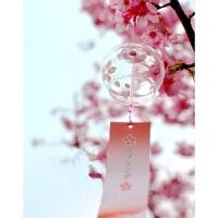 肚皮家日本玻璃风铃日式和风樱花挂件彩绘创意车挂饰门窗女生礼品