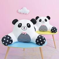 可爱熊猫抱枕办公室腰靠椅子护腰枕靠垫汽车抱枕靠枕靠背