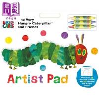 【中商原版】饥饿的毛毛虫艺术填色垫 Very Hungry Caterpillar Artist Pad 儿童美术读物
