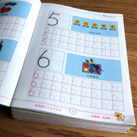 【限时包邮】幼儿园1-10数字贴汉字笔顺描红本拼音全套儿童田字格练字本初学者