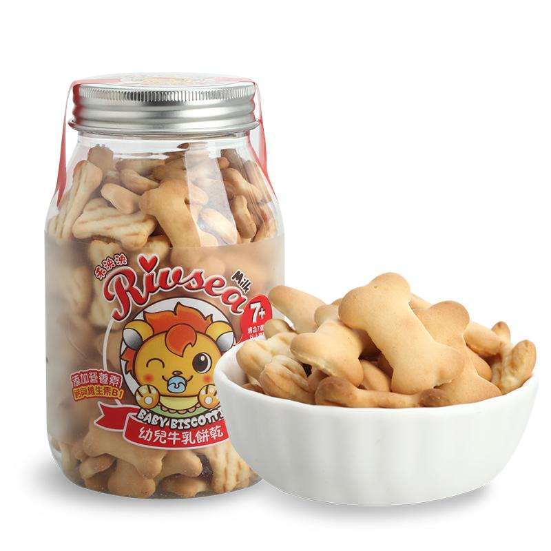 禾泱泱RIVSEA幼儿牛乳饼干骨头造型儿童零食辅食宝宝磨牙饼干150g