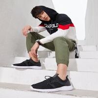 骆驼牌网鞋男2019春季新款黑色运动鞋男户外潮流正品休闲鞋跑步鞋