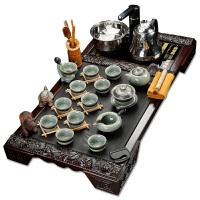 家用全自动喝茶台茶道实木茶盘 陶瓷茶具套装整套