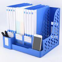 办公用品文件夹多层学生用板夹子插页档案栏大容量资料架文件框文件架文具书靠书立