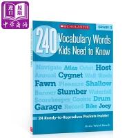 【中商原版】三年级孩子要知道的240个单词240VocabularyWordsKidsNeedtoKnow G3