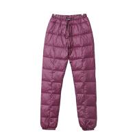 冬新款女长裤小脚加厚保暖裤外穿大码羽绒休闲运动裤裤棉裤