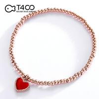 T400简约时尚手链 情人节生日礼物送女友 红色 3885