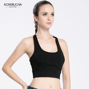 【新春特惠价】Kombucha瑜伽健身内衣女士高弹无痕工字美背无钢圈防震胸衣健身跑步运动文胸K0099