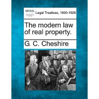 【预订】The Modern Law of Real Property.