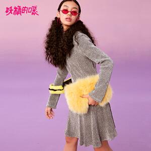 【低至1折起】妖精的口袋Y连衣裙女秋2018新款韩版中长款宽松气质秋装长袖长裙