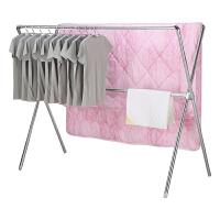 晾衣架落地折叠室内家用晾衣杆阳台晒衣架不锈钢双杆式凉衣架晒架