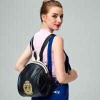 新款女士双肩包韩版时尚头层牛皮双背包个性旅行包