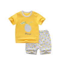 宝宝短袖套装夏季女童家居服男童婴儿T恤短裤儿童纯棉睡衣