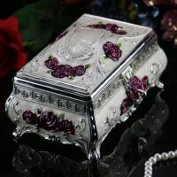 首饰盒欧式公主首饰收纳盒子 梳妆盒戒指盒化妆盒 生日结婚礼物 求婚礼物表白礼物摆件