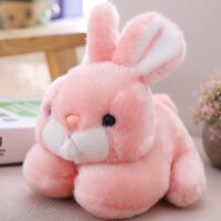 六一儿童节520毛绒玩具仿真兔子布娃娃小白兔公仔可爱趴趴兔兔儿童女孩生日礼物520礼物母亲节