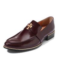 DAZED CONFUSED 秋季透气克罗心尖头皮鞋男士休闲鞋男鞋子英伦时尚懒人鞋潮鞋