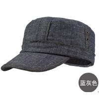 新款秋冬季男士帽子时尚军帽拼接潮男帽 平顶帽 棒球帽