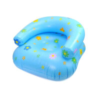 加厚印花儿童充气沙发 充气坐椅懒人椅子 卧室宿舍躺椅小沙发床午睡休闲充气椅子 花色随机