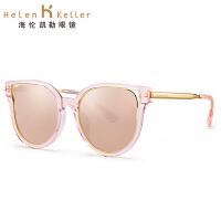 海伦凯勒2017春季太阳镜女款 炫彩偏光墨镜 复古猫眼款大框太阳镜女H8620