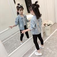 女童牛仔外套2018春装新款长袖刺绣儿童女孩春秋上衣洋气牛仔外套