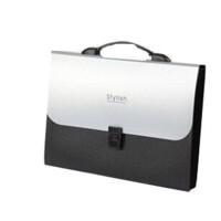 树德文具/N413Y 银系手提式风琴包/公文包/文件包